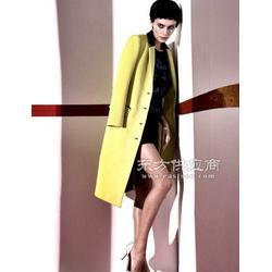 中年、中老年女装秋冬款长袖休闲个性麻棉呢料风衣大衣图片