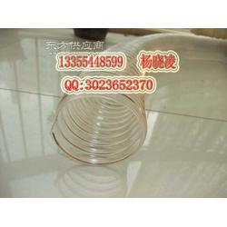 镀铜钢丝伸缩PU软管,耐磨钢丝吸尘管图片