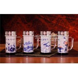 陶瓷保温杯养生花茶杯子双层办公室水杯图片