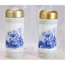 中国双层保温杯厂茶杯旅行茶杯礼品瓷纪念茶杯定制图片