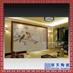 定做公益教育广告宣传陶瓷板画 厂家 室外墙体风景大型壁画瓷砖图片