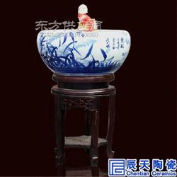 走廊摆件陶瓷流水音乐喷泉定制 古典主题酒店台面装饰喷泉鱼缸图片
