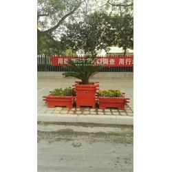 厂家定制各种木质花箱、防腐木花箱花盆、花箱、花箱图片