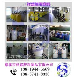 饶平塑料加药罐-水处理PE加药罐带搅拌计量泵图片