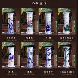 手绘竹节礼品陶瓷花瓶定制厂家图片
