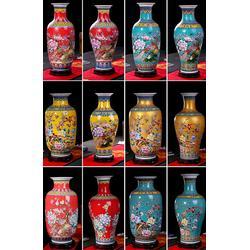手绘珐琅彩陶瓷花瓶定制厂家图片