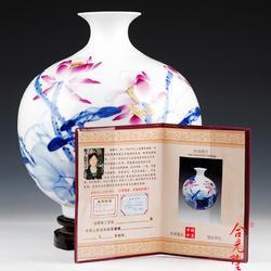 省级大师手绘陶瓷花瓶图片