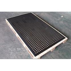 餐厅防滑垫食堂防滑垫厨房垫 带孔排水橡胶防滑地垫图片