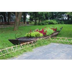 5m公园景观装饰船 小区摆设木船 仿古景观木船 款式可来样订做图片