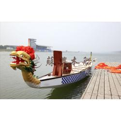 22人18.3米木质龙舟 国际标准龙舟 玻璃钢龙舟 端午比赛龙舟专用图片