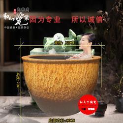 1.5米陶瓷洗浴大缸 陶瓷泡澡大缸定做 温泉中心沐浴专用洗澡缸图片