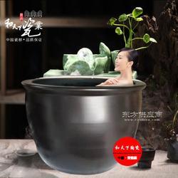 青瓦台浴室冲洗缸厂 日式极乐汤洗浴大缸图片