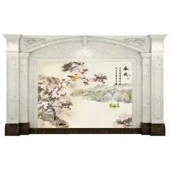 中式背景墙效果哪家好,瓷尚陶瓷背景墙(咨询),景德镇背景墙图片