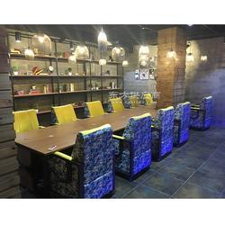 网咖网吧布艺沙发定制网吧家具生产厂家鸿成家具图片