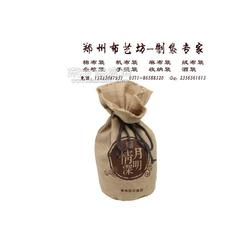 供应设计粮食包装袋 帆布面粉拉绳袋布艺坊设计制作规格图片