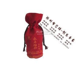 供应定做酒袋环保绒布束口抽绳酒袋定制图片