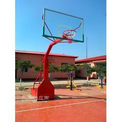 中学圆管篮球架用心打造收获客户信赖填埋式篮球架图片