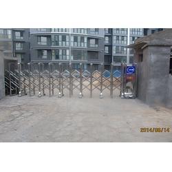 电动不锈钢伸缩门,山西金瑞祺贸易(在线咨询),不锈钢伸缩门图片