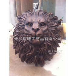 铜狮子头雕塑直径0.75m纯铜狮子脸挂件大号大型铜雕制作订做定做图片