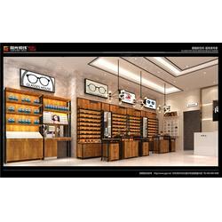 德兴眼镜店装修、眼镜店装修报价、眼科医院展示柜台阳光视线图片