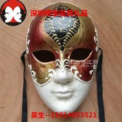 厂家威尼斯面具圆脸手绘纸浆面具化妆舞会面具图片