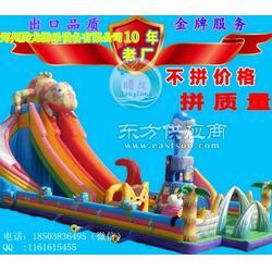 大型游艺设备 充气蹦蹦床 充气滑梯攀岩厂家 新款变色龙大滑梯震撼来袭图片