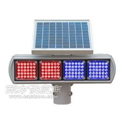 太阳能爆闪灯交通警示灯 高速路红蓝警示灯 四组交通警示灯图片