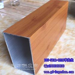 100x60铝方管 木纹铝方通 型材铝方通图片