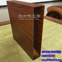 铝方管扁管 木纹铝方管图片