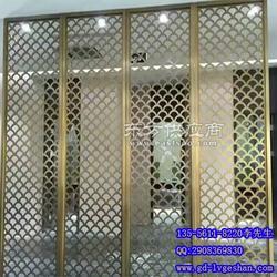 鱼鳞孔形拉网板 室内隔断屏风 铝网板规格图片