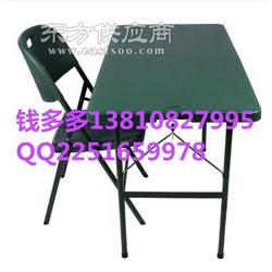 野战折叠桌椅新材料中空吹塑便携式户外野营餐桌塑料参谋作业桌椅图片