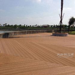 塑木地板145H21C景观材料地板 户外地板厂家园林公园栈道地板图片