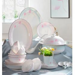 訂制骨質瓷餐具套裝,陶園夢(在線咨詢),骨質瓷餐具套裝圖片