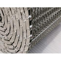 森喆金属钢丝编织网链 镀锌冲孔网带网链-杭州网链图片