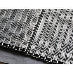 垃圾清理输送机械设备-杭州链板输送机-耐高温不锈钢传送带图片