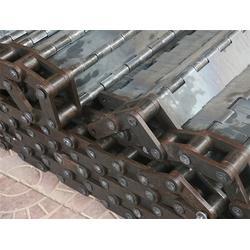 衢州板式输送带-大滚珠链条板式输送带-森喆挡板式提升机网带图片