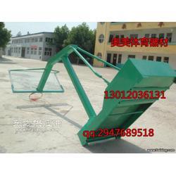 圆管篮球架安装厂,仿液压篮球架生产厂家图片