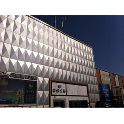 多孔铝板幕墙、铝板幕墙、莱特镁展览(查看)图片
