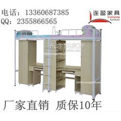 揭阳高中公寓床厂家 连盈家具 一套组合三人床图片