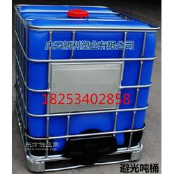 工厂直供蓝色1000升塑料桶避光1吨桶IBC集装桶罐图片