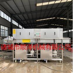 高压喷淋连续式洗筐机厂家-顺泽机械亚博ios下载图片