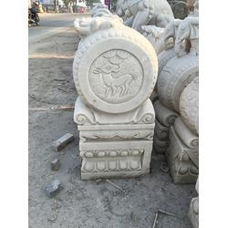 垣古石雕门墩|汉白玉圆鼓|汉白玉圆鼓厂家图片