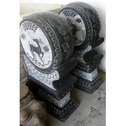 石门墩-刻莲花石门墩的-垣古石雕(多图)图片