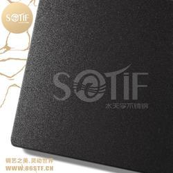 工程定制黑钛喷砂不锈钢板抗指纹黑色不锈钢装饰板支持免费送样图片