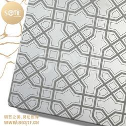 中国结花纹用不锈钢镜面蚀刻板做出来的效果仅供参考图片