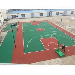 西安塑胶篮球场_西安康特塑胶_渭南塑胶篮球场图片