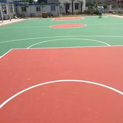 学校网球场地建设 西安康特塑胶(在线咨询) 华阴网球场地图片
