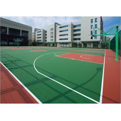 西安塑胶篮球场厂家-西安康特塑胶-安康塑胶篮球场图片