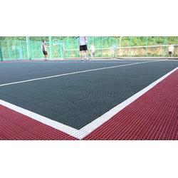 室外悬浮拼块运动场地铺设,运动场地,金成体育/环氧地坪图片