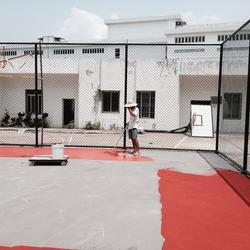 承接人造草楼顶球场地面施工厂家,安乡县地面,金成体育图片